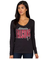 Authentic Nfl Apparel Women's Long Sleeve Atlanta Falcons Touchdown T Shirt Black