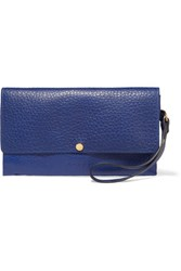 Marni Textured Leather Clutch Royal Blue