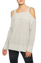 Sanctuary Women's Amelie Cold Shoulder Sweater Marled Sterling