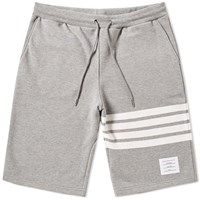 Thom Browne Engineered Stripe Sweat Short Grey