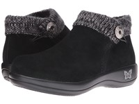 Alegria Sitka Black Silver Women's Pull On Boots