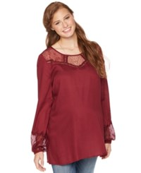 Wendy Bellissimo Maternity Lace Trim Blouse