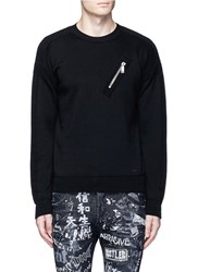 Dsquared 'F.12' Zip Pocket Wool Sweater Black