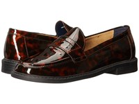 Cole Haan Pinch Campus Penny Tortoise Print Patent Women's Shoes Brown
