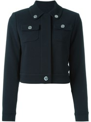 Michael Michael Kors Cropped Jacket Blue