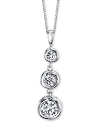 Sirena Diamond Three Stone Pendant Necklace 1 4 Ct. T.W. In 14K Yellow Or White Gold