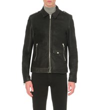 The Kooples Zipped Leather Jacket Black