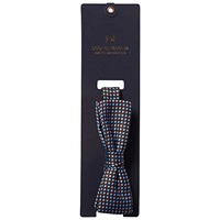 Scotch And Soda Dot Print Bow Tie Burgundy Blue