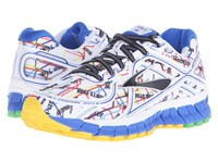Brooks Adrenaline Gts 16 Electric Blue High Risk Red Black Cyber Yellow Women's Running Shoes