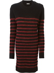 Each X Other Striped Sweater Dress Black