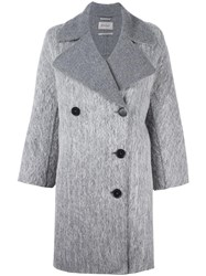 Sportmax Double Breasted Boxy Coat Grey
