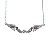 Aliki Stoumpouli Hermes Necklace White Platinum Gold Black White