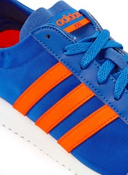 Topman Adidas Neo Vs Jog Blue And Orange Trainers