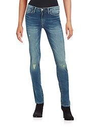 Ck Calvin Klein Distressed Patch Faded Slim Fit Jeans Dirty Dust