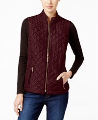 Charter Club Quilted Puffer Vest Only At Macy's Cranberry Red
