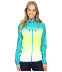 New Balance Windcheater Hybrid Jacket Titan Toxic Women's Coat Blue