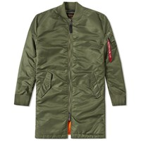 Alpha Industries Ma 1 Vf 59 Long Flight Jacket Green