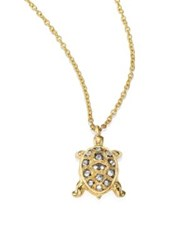 Annoushka Love Diamonds And 18K Yellow Gold Turtle Pendant Necklace