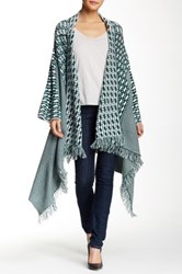 Romeo And Juliet Couture Striped Asymmetric Cardigan Green