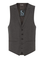 New And Lingwood Queensbury Flannel Waistcoat Grey