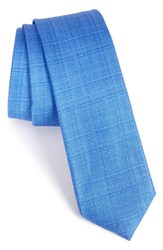 Calibrate Men's Solid Silk Tie Blue