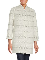 Rebecca Taylor Icicle Cocoon Jacket Grey Combo