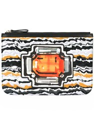 Pierre Hardy 'Multi Tan' Clutch Black