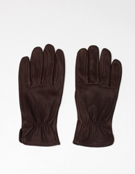 Filson Original Deerskin Gloves Brown