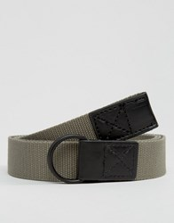Asos Long Ended Belt In Khaki Khaki Green