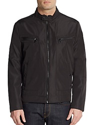 Kenneth Cole Reaction Zip Front Jacket Black