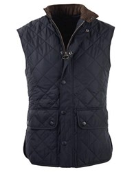 Barbour Lowerdale Quilted Polar Fleece Gilet Vest Navy Blue
