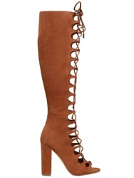 Kendall Kylie 100Mm Suede Lace Up Boots