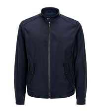 Pal Zileri Leather Trim Bomber Jacket Male