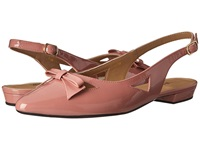 Vaneli Gervasy Blush Mag Patent Gold Buckle Women's Dress Sandals Pink