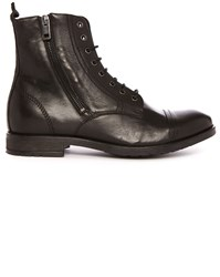Diesel Black Kallien Side Zip Laced Boots