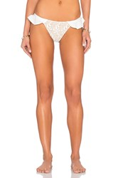 For Love And Lemons St. Tropez Bikini Bottom White