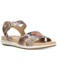 Naturalizer Selma Flat Sandals Women's Shoes Tan Sand