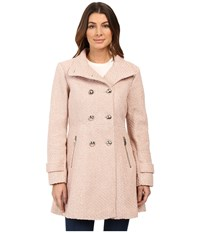 Jessica Simpson Military Double Breasted Braided Wool Rose Women's Coat Pink
