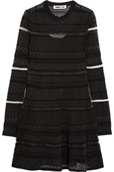 Mcq By Alexander Mcqueen Knitted Mini Dress Black