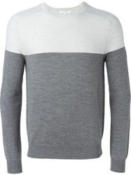 Carven Two Tone Sweater Grey