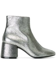 Maison Martin Margiela Mm6 Metallic Ankle Boots