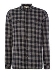 Anerkjendt Steven Regular Fit Small Check Shirt Grey