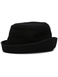 Junya Watanabe Comme Des Garcons Man Rolled Brim Bucket Hat Black