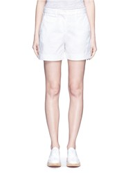Theory 'Wehnday' Stretch Chino Shorts White