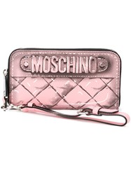 Moschino Trompe L'oeil Wallet Pink And Purple