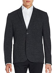 Sand Medallion Pattern Cotton And Virgin Wool Sportcoat Grey