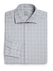 Ike Behar Regular Fit Plaid Dress Shirt Empire Blue