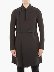 Rick Owens Black Belted Trench Coat