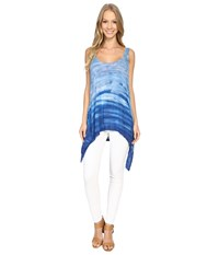 The Beginning Of Kae'na Handkerchief Tank Top Ocean Colorway Women's Sleeveless Blue