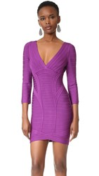 Herve Leger Kahli Dress Magenta